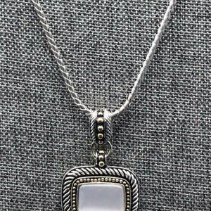Avon Long Silver Snake Chain Necklace